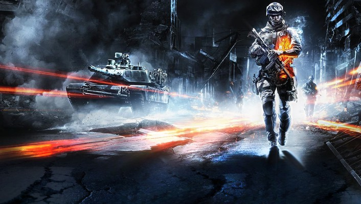 Battlefield 3 soldiers tanks wallpaper