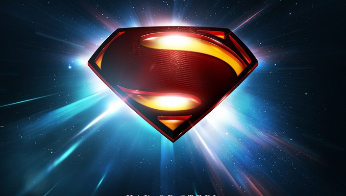 Man of steel movie superman logo wallpaper