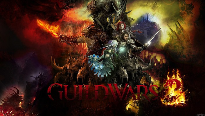 Guild wars 2 mmorpg artwork fantasy art games wallpaper
