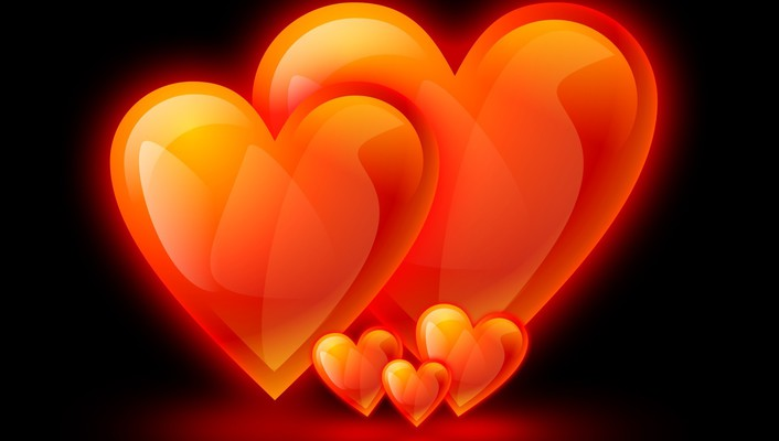 Family flame hearts love wallpaper