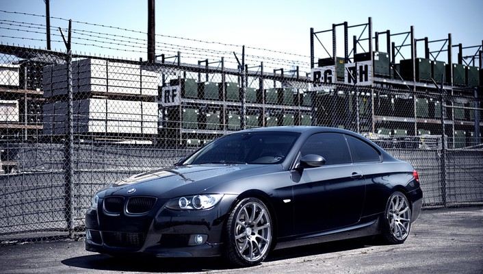 Bmw 3 series automobiles black cars front wallpaper