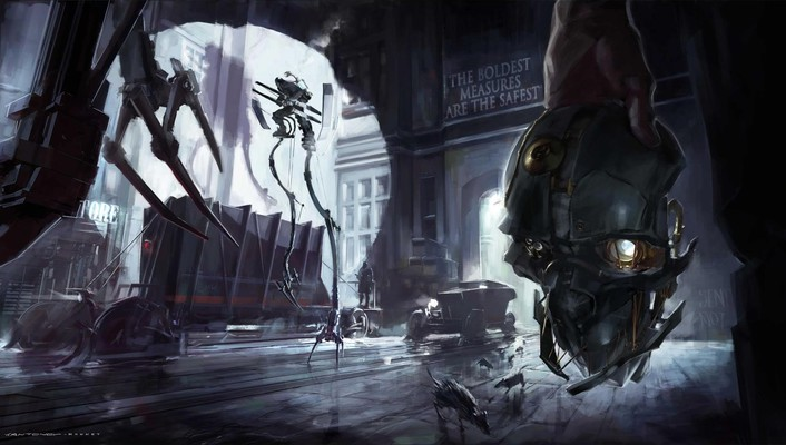 Video games robots dishonored game art wallpaper