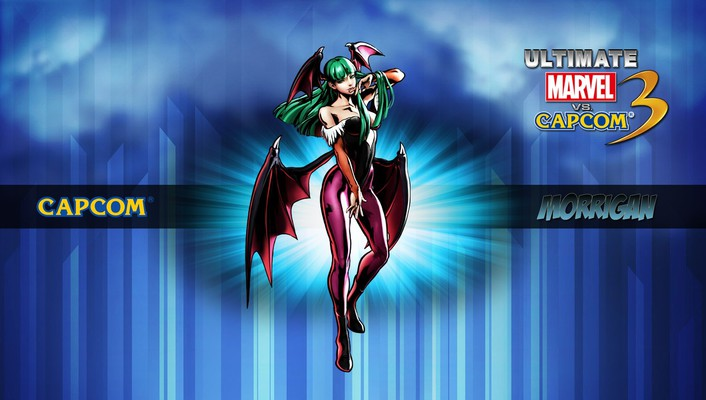 Capcom marvel vs 3 morrigan comics wallpaper