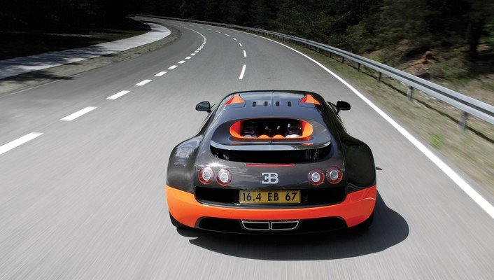 Bugatti veyron in action wallpaper
