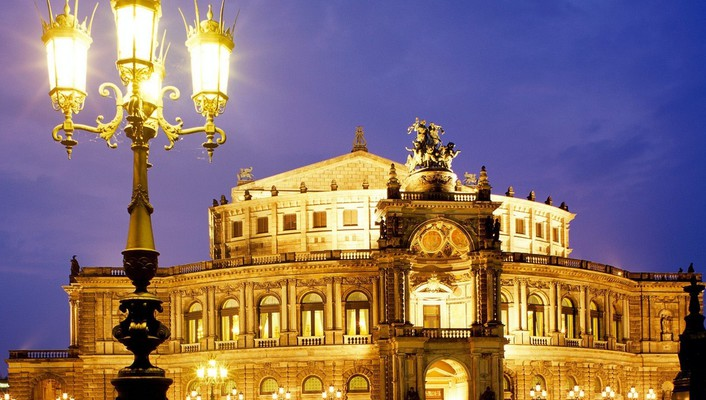 Dresden germany semper opera wallpaper