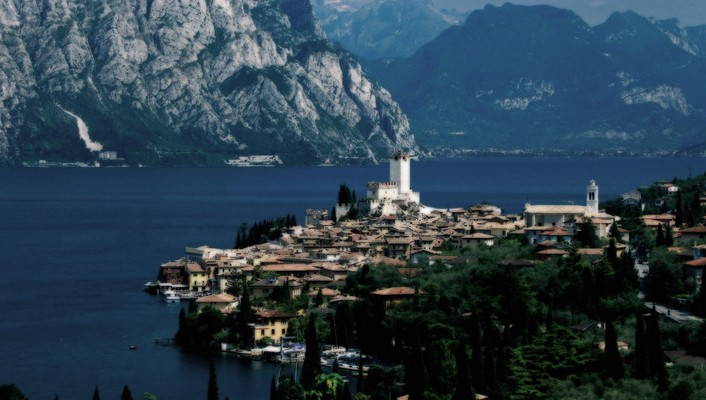 Landscapes nature italy lakes malcesine garda lake wallpaper