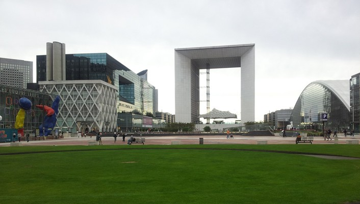 Paris cityscapes france grande arche la defense wallpaper