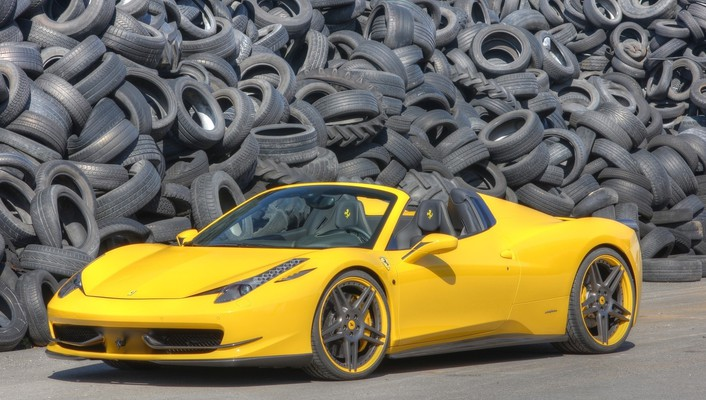 Novitec rosso tuned yellow ferrari 458 spider wallpaper