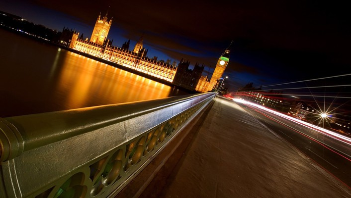 Night architecture london bridges long exposure cities wallpaper