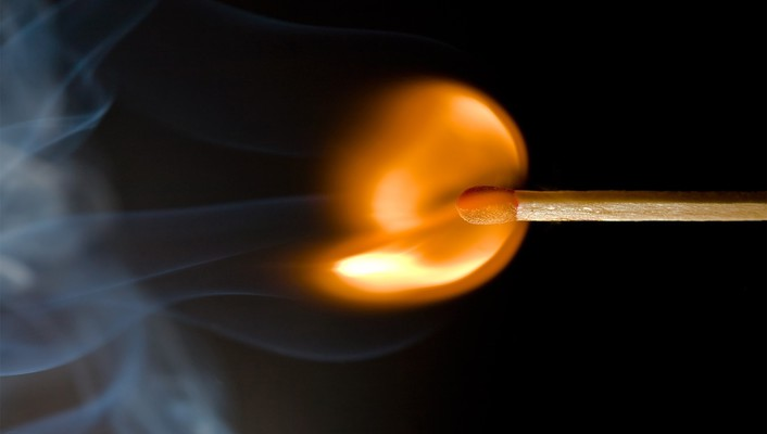 Fire matchsticks smoke wallpaper