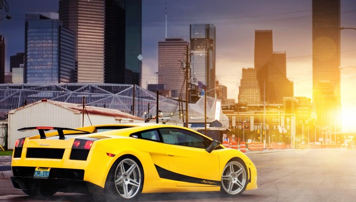Cars lamborghini buildings vehicles gallardo cities superleggera wallpaper