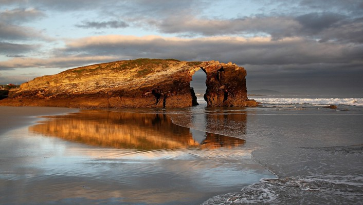 Arch beaches landscapes nature wallpaper