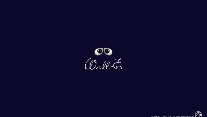 Pixar minimalistic wall-e animation wallpaper