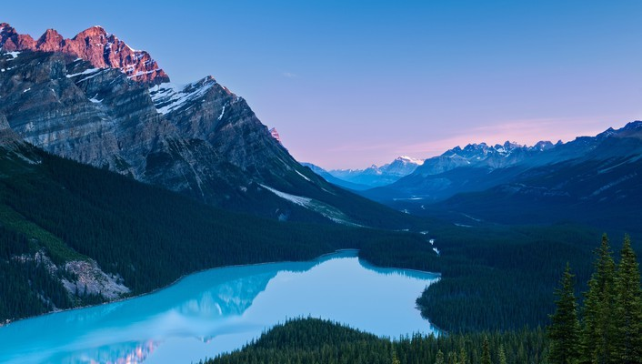 Lakes landscapes mountains valleys wallpaper