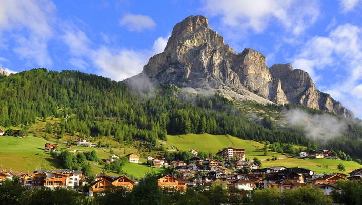 Mountains town villages wallpaper