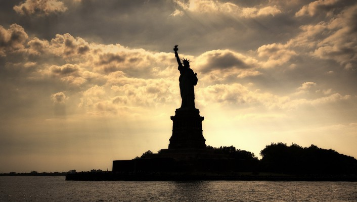 City statue of liberty architecture cityscapes landscapes wallpaper