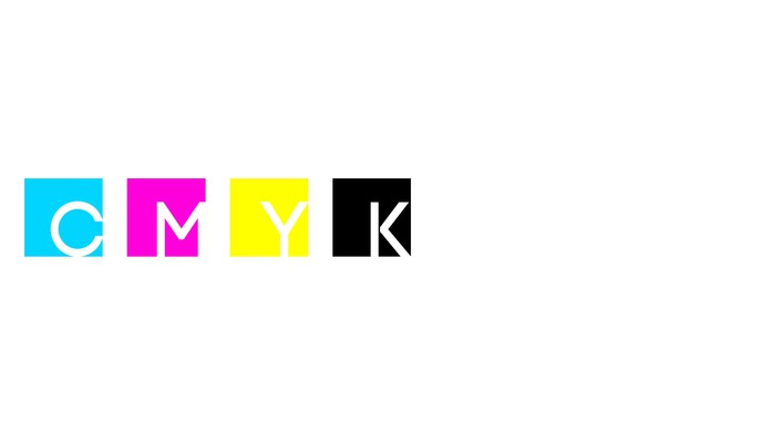 Cmyk colors simple white wallpaper