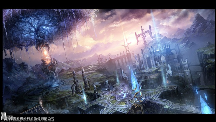 Dawn drawings fantasy art landscapes paintings wallpaper