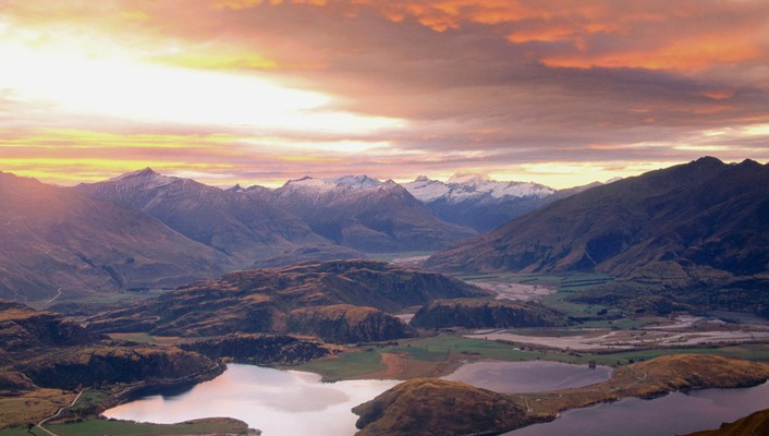 Lake wanaka mount aspiring new zealand wallpaper
