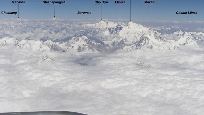 Himalaya mount everest flight wallpaper