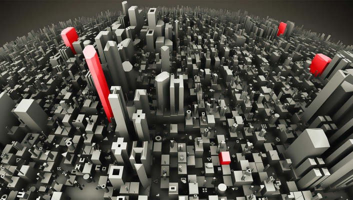 Cityscapes globe grayscale red selective coloring wallpaper