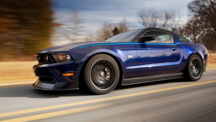 Ford mustang blue vehicles wallpaper