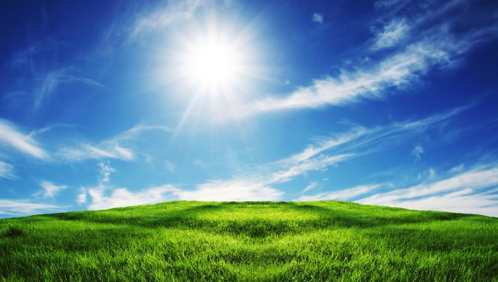 Sun fields nature wallpaper