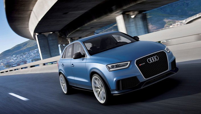 Audi rsq3 german cars suv blue wallpaper