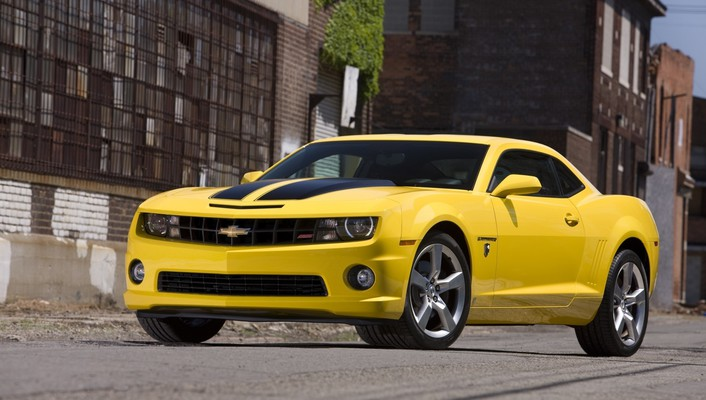Camaro ss chevrolet cars yellow wallpaper