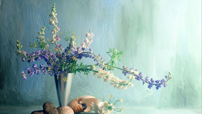 Earth bouquet digital art nature vase wallpaper
