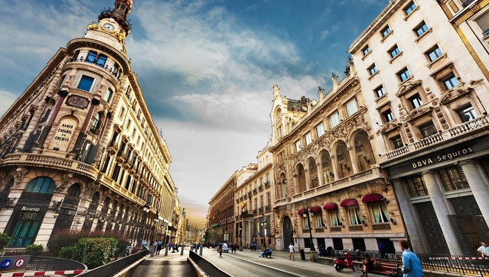 Barcelona hdr photography spain cityscapes flats wallpaper