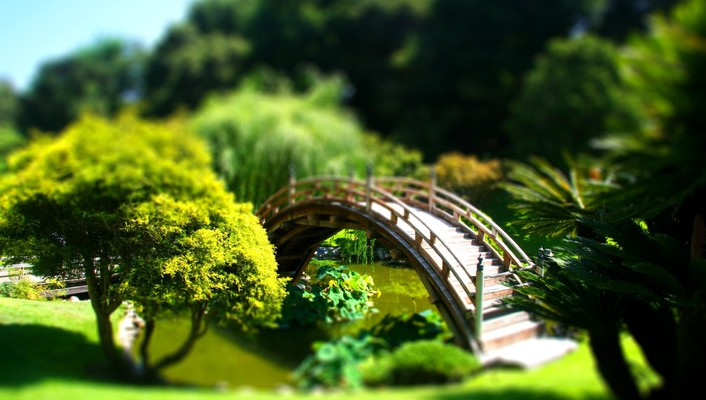 Bridges landscapes tiltshift wallpaper