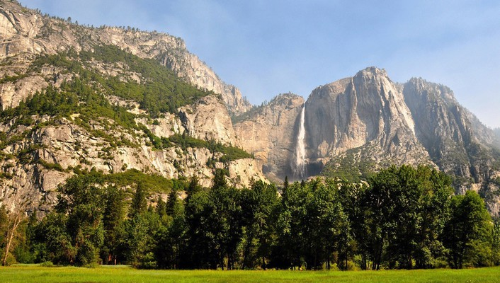 Yosemite national park landmark landscapes mountains nature wallpaper