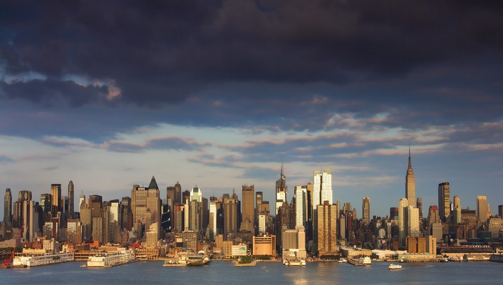 New york city cityscapes skyline landscapes skyscrapers wallpaper