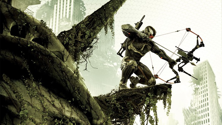 Crysis 3 new york city jungle nanosuit ruins wallpaper