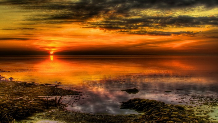 Magnificent sunset hdr wallpaper