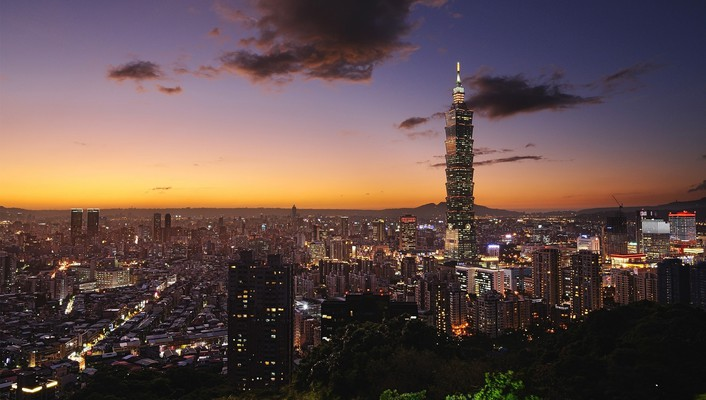 Taipei 101 cityscapes city skyline landscapes wallpaper