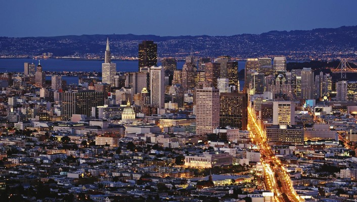 San francisco cities cityscapes night city wallpaper