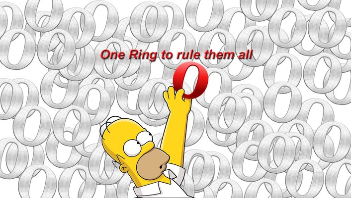 Homer simpson opera web browser the simpsons donuts wallpaper