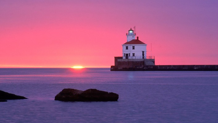 Wisconsin point lighthouse wallpaper