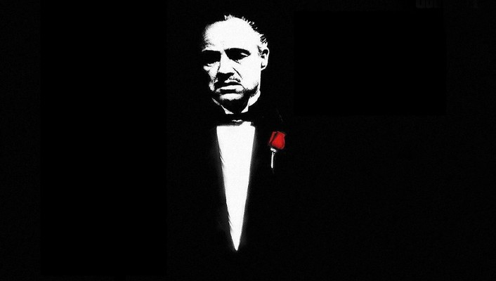 Marlon brando the godfather actors black minimalistic wallpaper