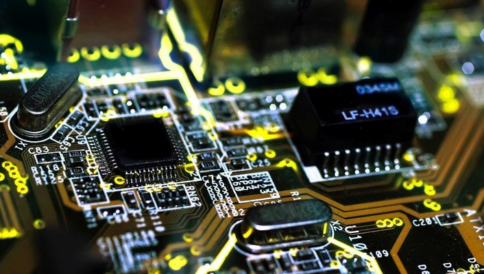 Chips electronic circuit boards wallpaper