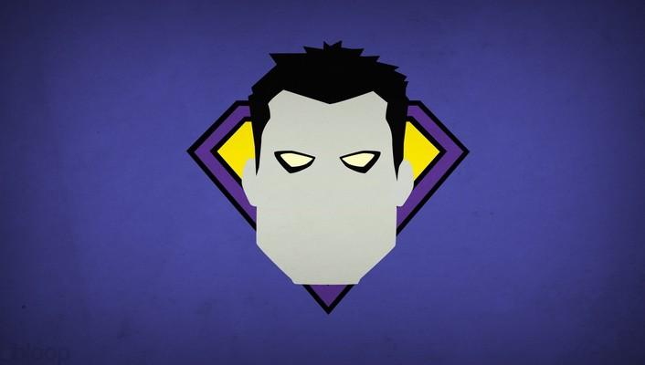 Minimalistic dc comics bizarro purple background villians blo0p wallpaper