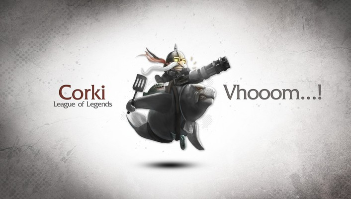 Corki league of legends video games wallpaper