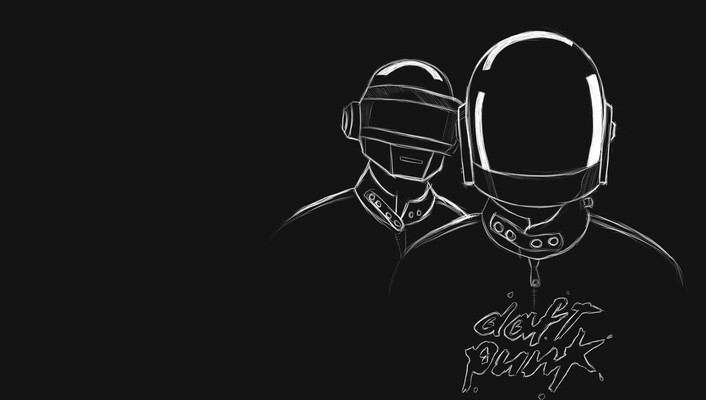 Music daft punk monochrome wallpaper
