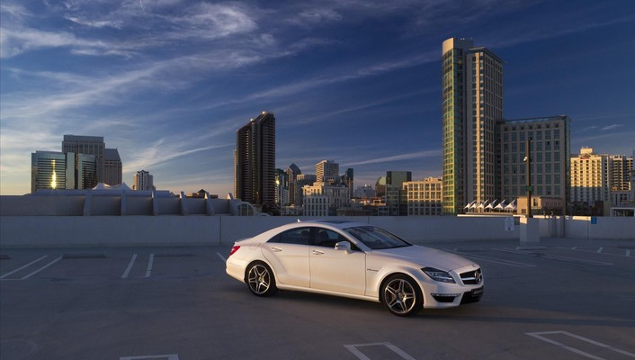 Mercedesbenz mercedes benz cls63 amg white wallpaper