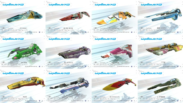 Wipeout hd collage fan art feisar wallpaper