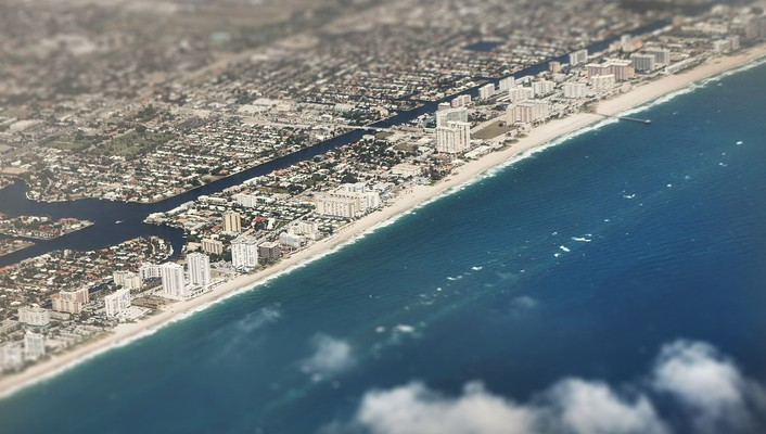 Tilt-shift cities view skies wallpaper