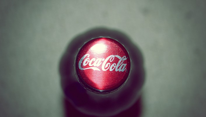 Cocacola bottles macro wallpaper