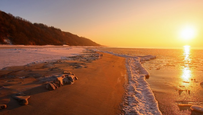 Sun beaches nature shore wallpaper